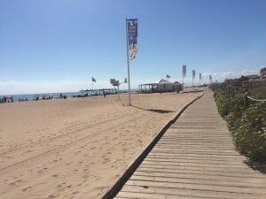 Pasarela en la playa de Xeraco