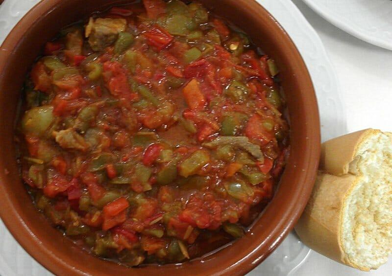 Pisto infanteño… con magro, tomate y pimiento