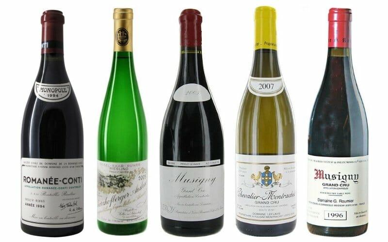 Los 5 vinos más caros del mundo
