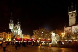 Los mercadillos navideños son una de las atracciones navideñas en la República Checa