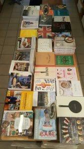 Algunos de los libros de la tienda