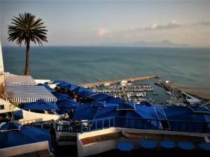 Vista desde el Café des delices en Sidi Bousaid