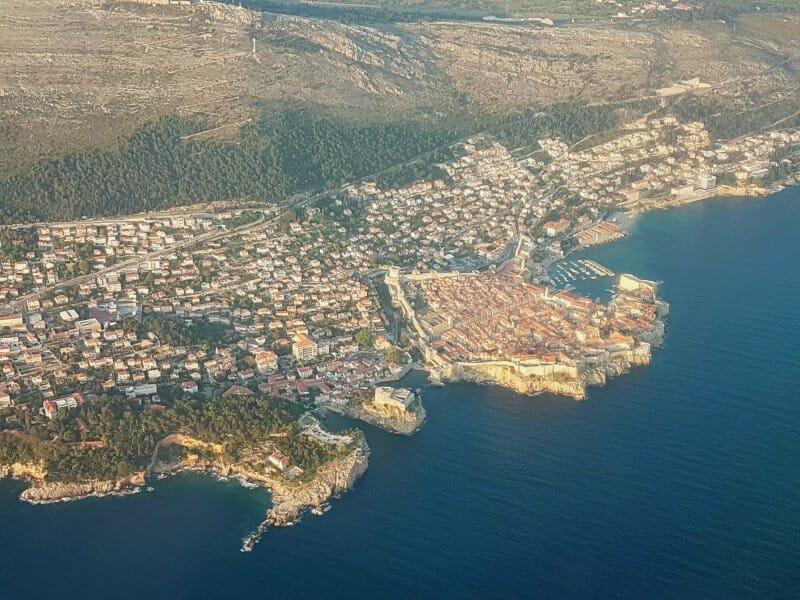 Dubrovnik desde la ventanilla