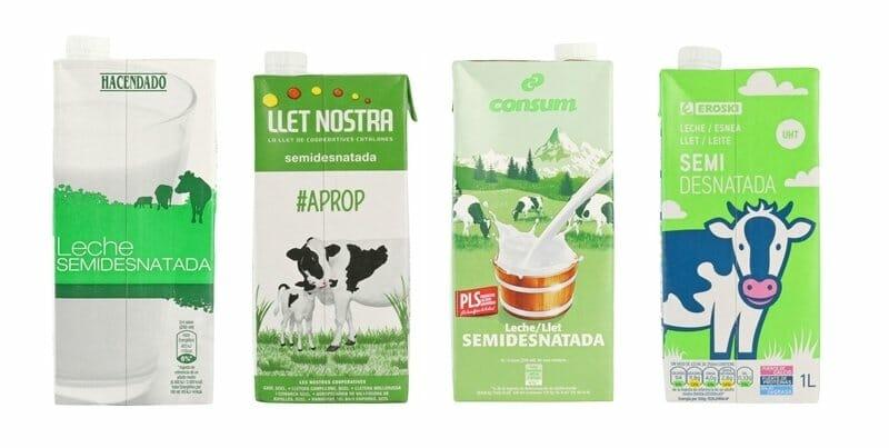 Las mejores (y peores) marcas de leche semidesnatada en España
