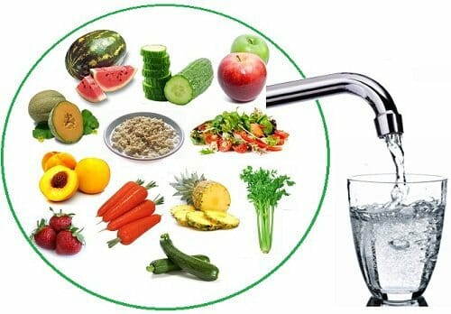 Alimentos que nos hidratan