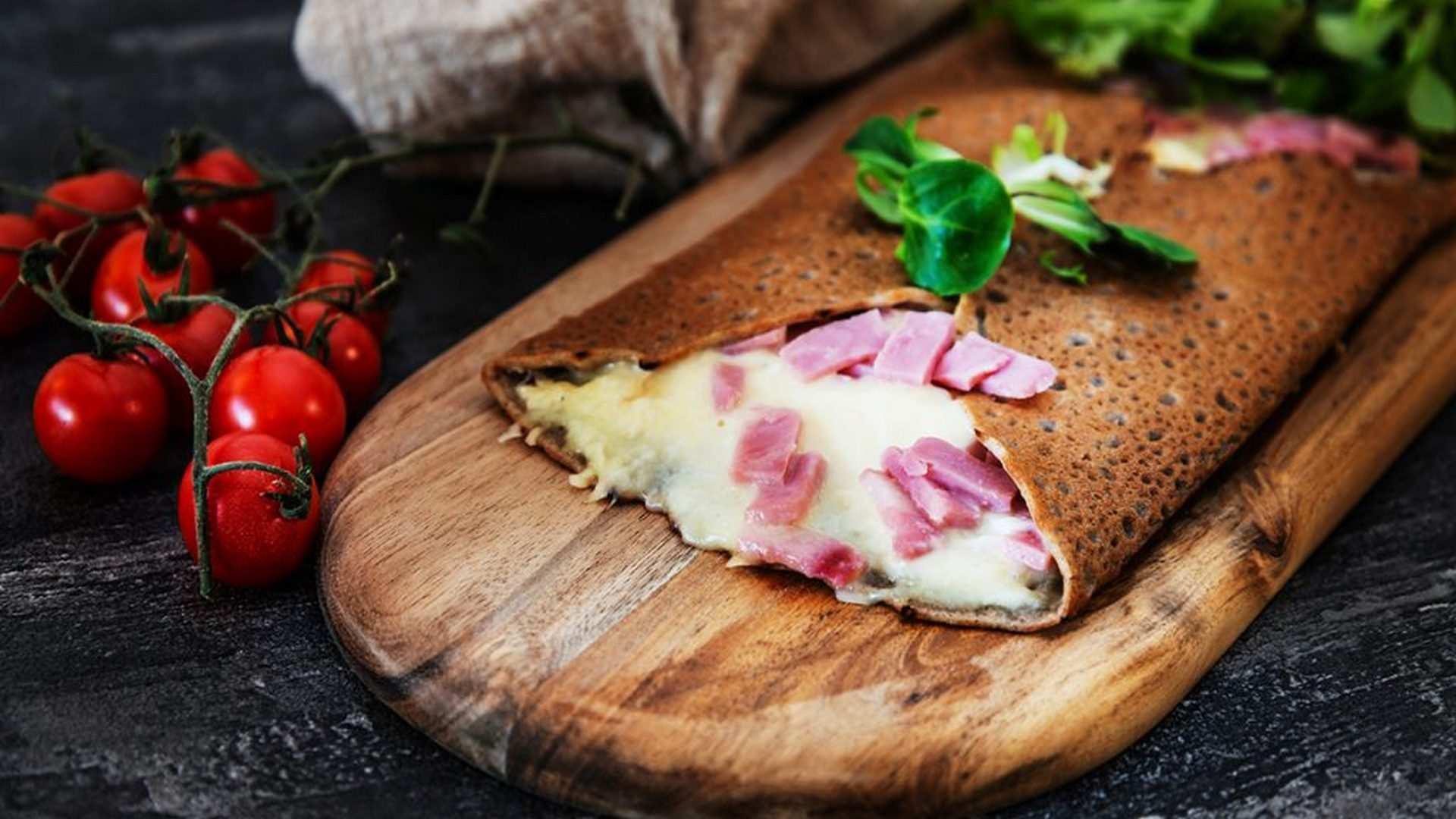 Receta de crepes de jamón y queso