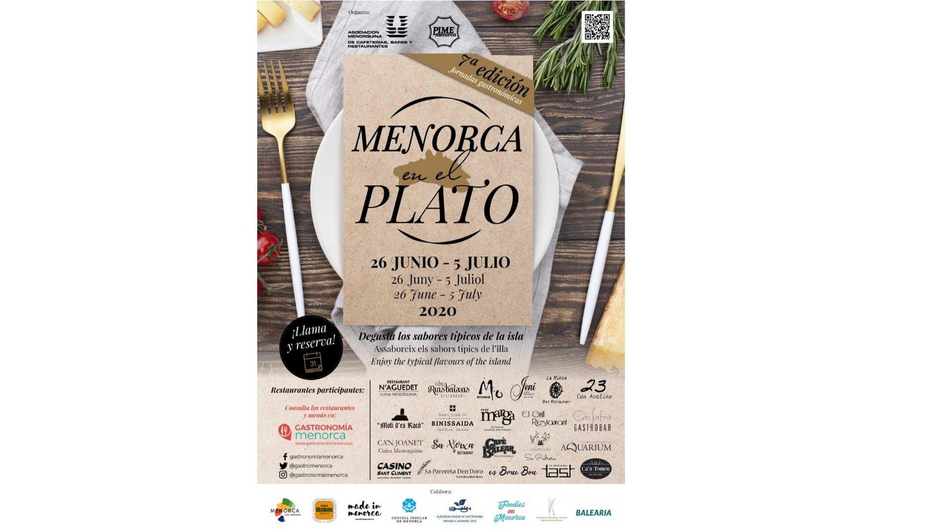 """""""Menorca en el plato"""", del 26 de junio al 5 de julio"""