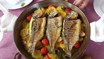 Receta de pescado al horno al estilo Ibicenco