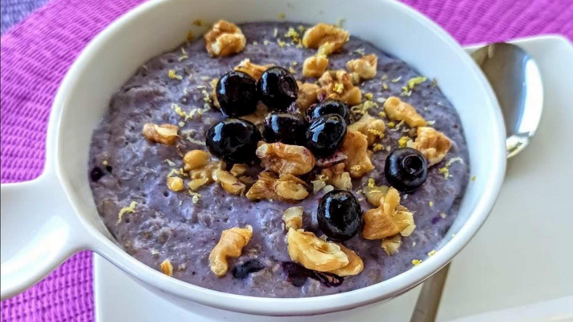 Receta de Porridge con Arándanos