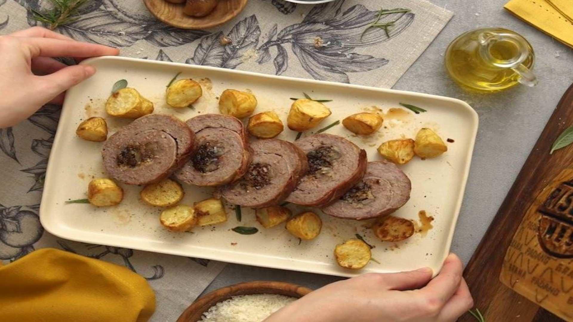 Receta de Rollo de carne picada con frutos secos: especial recetas de Navidad