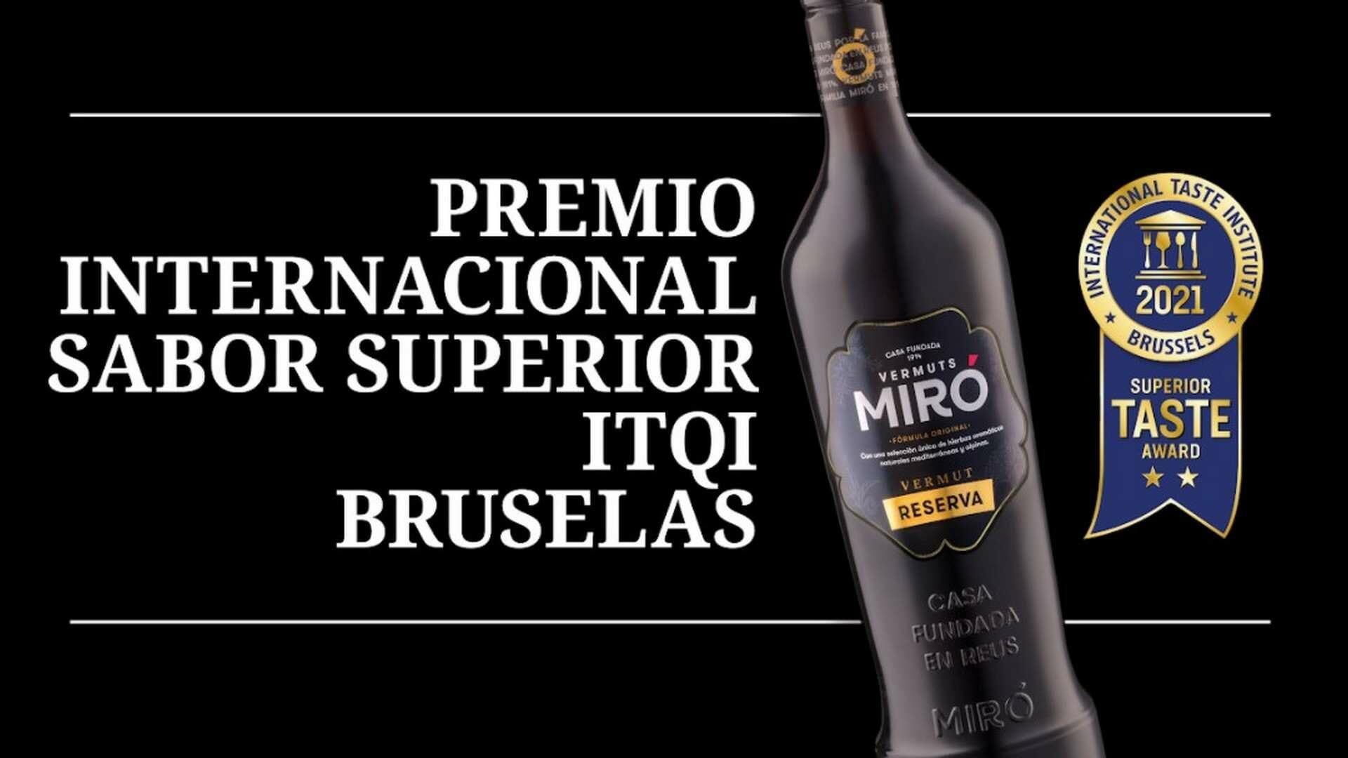 Vermut Miró Reserva, ganador del Premio al Sabor Superior 2021 del International Taste & Quality Institute