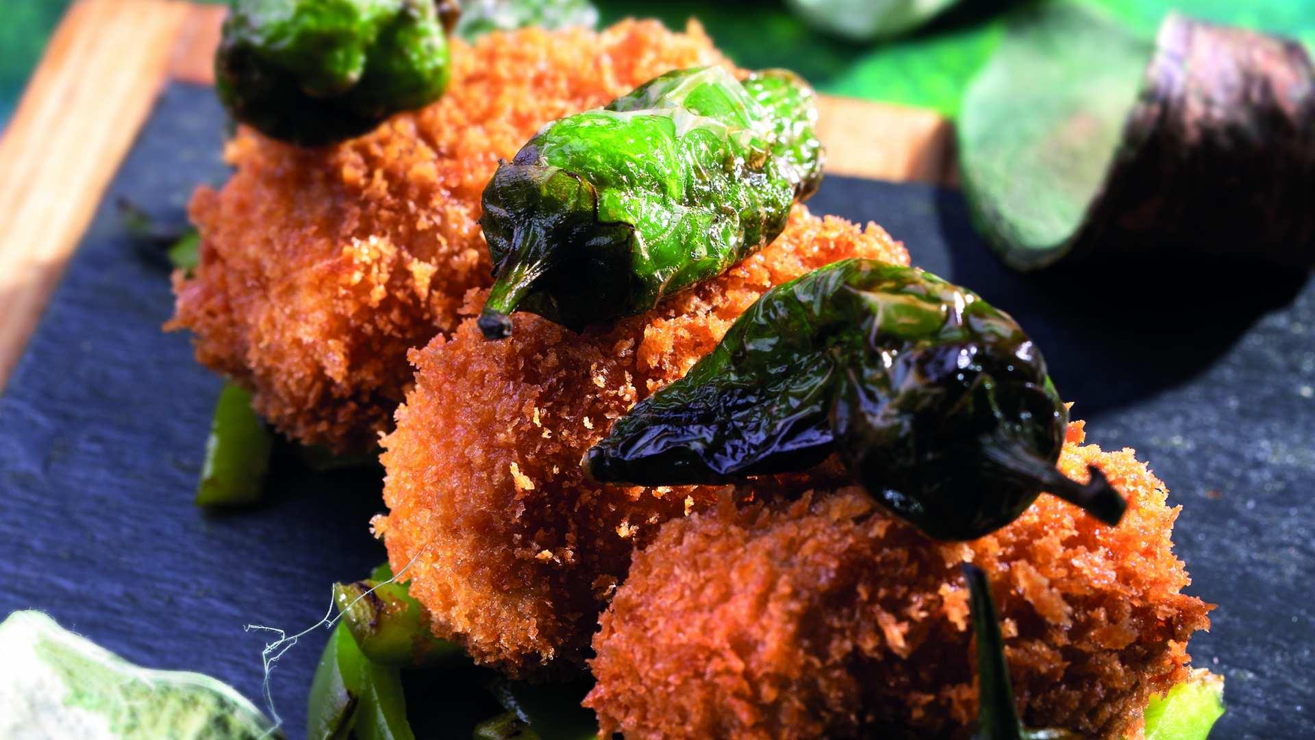 Receta de Croquetas de lomo con pimiento verde