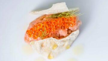 Receta de tartar de salmón de Diego Gallegos