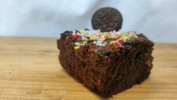 Receta de Brownie de Chocolate Oreo
