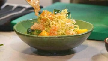 Receta de ensalada de Escarola con Mango