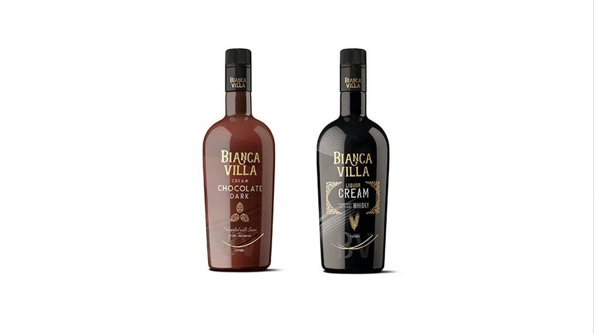 Cremas de licor de chocolate y de whisky Bianca Villa para alargar las sobremesas