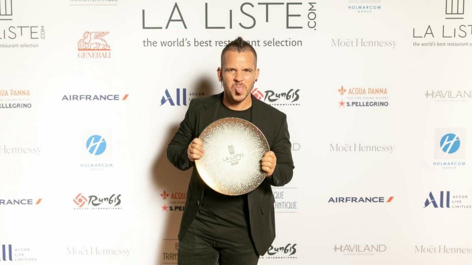 Dabiz Muñoz recibe el Premio a la Innovación que otorga La Liste