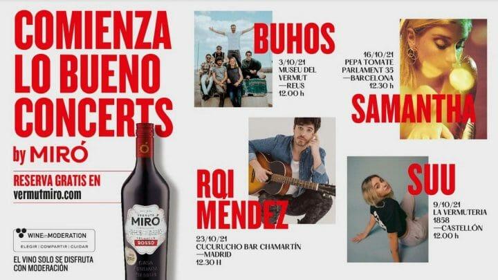 """""""Comienza lo bueno Concerts by Miró"""" la campaña más musical de Vermuts Miró"""